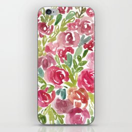 Maya's Garden Watercolor Painting iPhone Skin