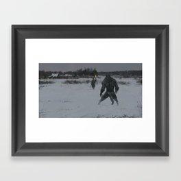 hunting at night Framed Art Print