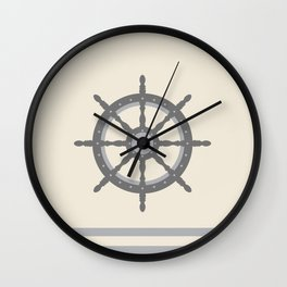 AFE Gray Helm Wheel Wall Clock