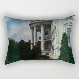 White House Lantern Slide Remastered Rectangular Pillow