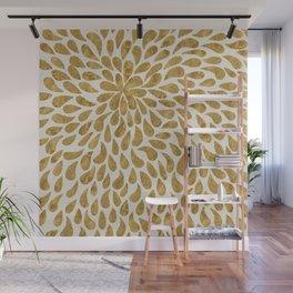 Golden Texture Design Wall Mural