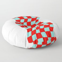 Checkered Table Cloth (in 3D) Floor Pillow