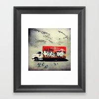 Andrea's Catering Truck Framed Art Print