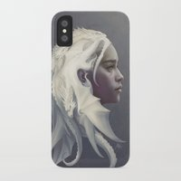 dragons iPhone & iPod Cases featuring Mother of Dragons by Artgerm™
