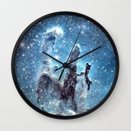 Pillars of Creation Blue Wall Clock