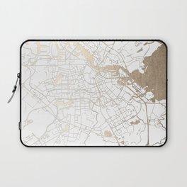 Amsterdam White on Gold Street Map II Laptop Sleeve