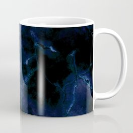 Dark blue cracked background Coffee Mug
