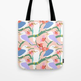 Kookaburra Birds + Little Kurrajong Flowers Tote Bag