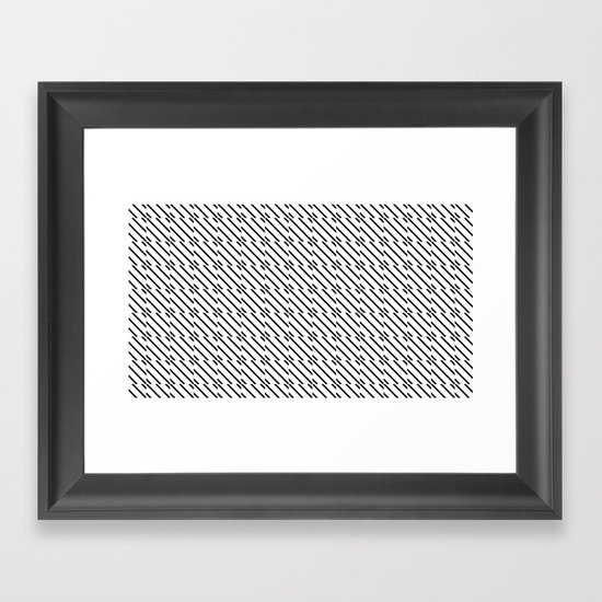 IJzerman Black & White Pattern Framed Art Print