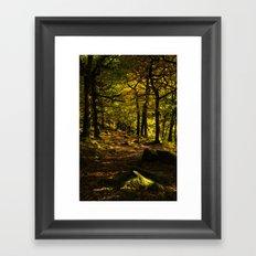 Padley Gorge Trail in Autumn Framed Art Print