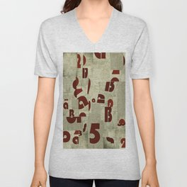 Absract Collage Unisex V-Neck