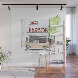 Sag Harbor Movie Theater Wall Mural