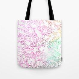 Hand painted magenta pink teal green watercolor floral Tote Bag