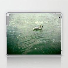 Wisdom found - white swan in Lyon, France Laptop & iPad Skin