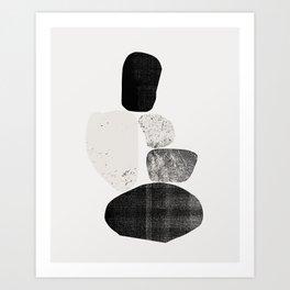 Pile of rocks Art Print