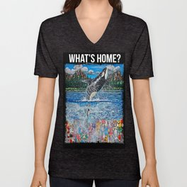 What's Home? Unisex V-Neck