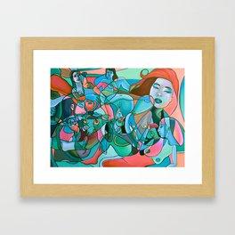Abstrotica Intersexion Framed Art Print