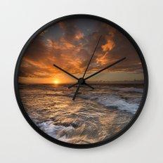 Oahu Sunset Wall Clock