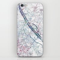 vienna iPhone & iPod Skins featuring Vienna map by MapMapMaps.Watercolors