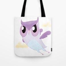 Purple Owl Tote Bag