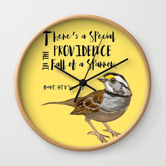 Fall Of A Sparrow Wall Clock