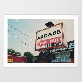 this way to the arcade ...  Art Print