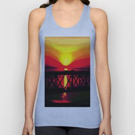 Sunset On The Bay Bridge Unisex Tank Top