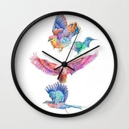 birds in color Wall Clock