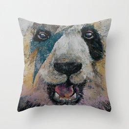 Panda Rock Throw Pillow