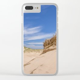 Blue Skies on the Sand Dunes Clear iPhone Case