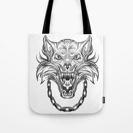 Norse Wolf Monster Fenrir Tote Bag