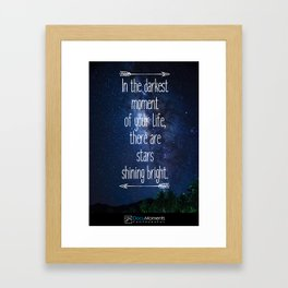Stars Quote Framed Art Print