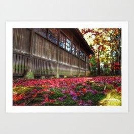 Japanese Autumn Art Print