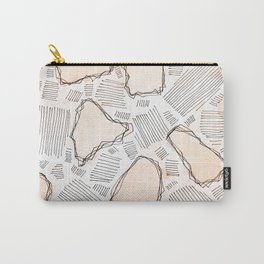 Abstract watercolor in modern style with marble lines.No.82 Carry-All Pouch