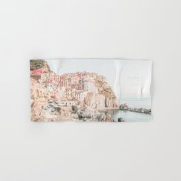 Positano, Italy Amalfi coast pink-peach-white travel photography in hd Hand & Bath Towel