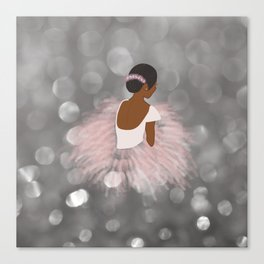 African American Ballerina Dancer Canvas Print