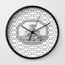 Scott Fountain_Belle Isle_Detroit, Michigan Wall Clock