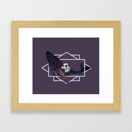universe in whale Framed Art Print
