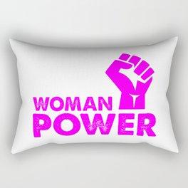 woman power feminist top Rectangular Pillow