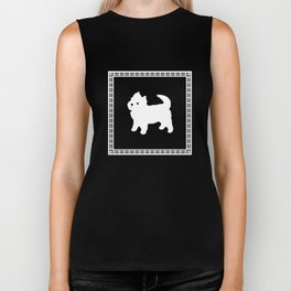 Little White Dog Biker Tank
