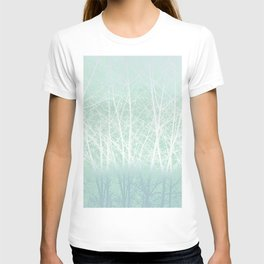 Frosted Winter Branches in Misty Green T-shirt