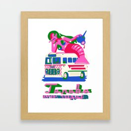 little wit in the head makes much work for the feet Framed Art Print