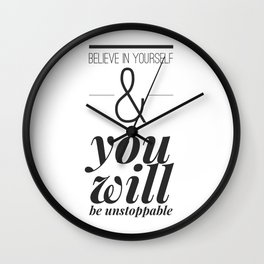 Unstoppable Wall Clock