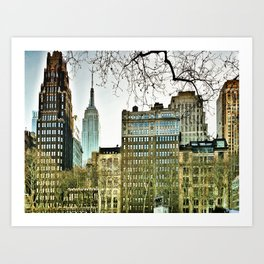 The view from Bryant Park Art Print
