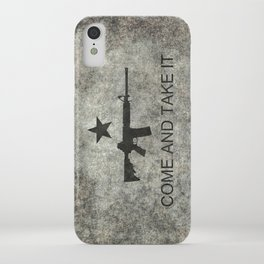 Come and Take it Flag with AR-15 iPhone Case