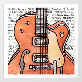Music for the Soul & Spirit - Orange Series Art Print