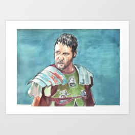 Russell Crowe in The Gladiator Art Print