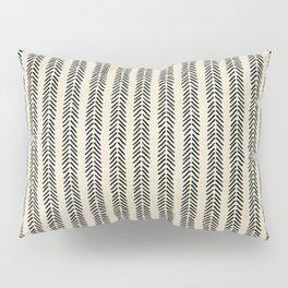 Mud Cloth - Black and White Arrowheads Pillow Sham