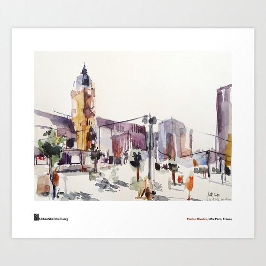 """Marion Rivolier, """"Gare de Lyon"""" Art Print"""