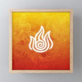 Avatar Fire Bending Element Symbol Framed Mini Art Print